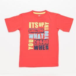 Camiseta UP STAMPS Coral Niño (10-16)
