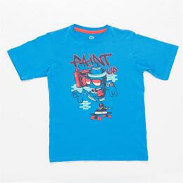 Camiseta UP STAMPS Azul Niño (10-16)