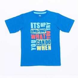 Camiseta UP STAMPS Azul Royal Niño (10-16)