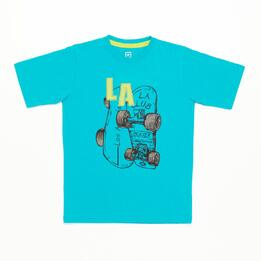 Camiseta Turquesa Estampada Niño Up