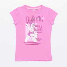 Camiseta UP STAMPS Rosa (10-16)