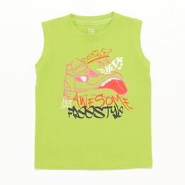 Camiseta Sin Mangas Pistacho Niño Up