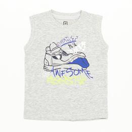 Camiseta Sin Mangas Gris Algodón Niño Up