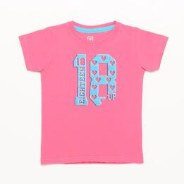 Camiseta UP STAMPS Rosa Claro Niña (2-8)