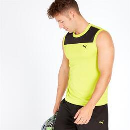 PUMA Camiseta Tenis Pádel Verde Negro Hombre