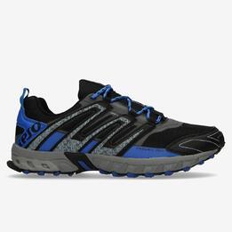 Zapatillas Trail IPSO Negro Azul Hombre