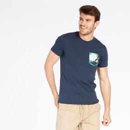 Camiseta Bosillo TRUNK&ROOTS Marino Hombre