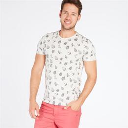 Camiseta Gris Estampada TRUNK&ROOTS Hombre
