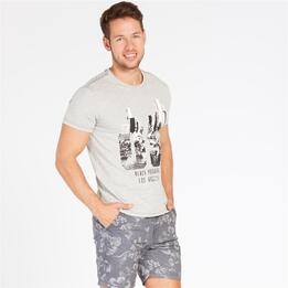 Camiseta Gris TRUNK&ROOTS Hombre