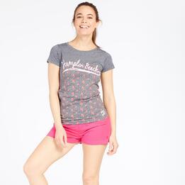 Camiseta EstampadaTRUNK&ROOTS Gris Mujer