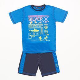 Conjunto Pantalón y Camiseta SILVER Azul Niño (6-16)