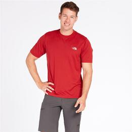 THE NORTH FACE REAXION Camiseta Roja Hombre