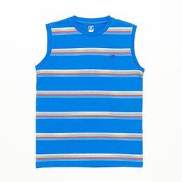 Camiseta Sin Mangas UP Rayas Marino Niño (10-16)