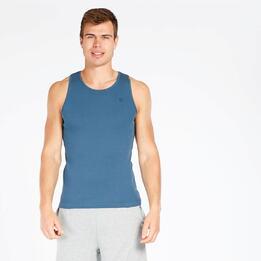 Camiseta Tirantes Up Basic Azul Denim Hombre
