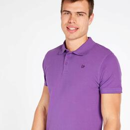 Polo Manga Corta UP BASIC Morado Hombre