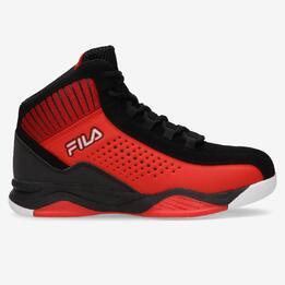 Bota Basket Roja Negra Niña Fila Entrapment