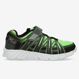 Zapatillas Running Fila Verdes Negras Niño