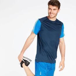 Camiseta Adidas Azul Marino Hombre