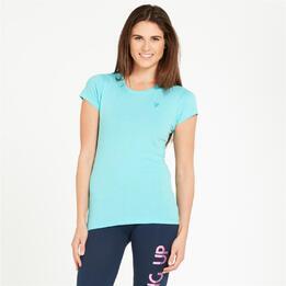 Camiseta UP Basic Turquesa Mujer
