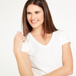 Camiseta Pico UP Blanca Mujer