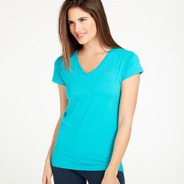 Camiseta Pico UP Turquesa Mujer