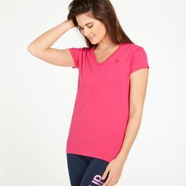 Camiseta Pico UP Fucsia Mujer