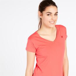 Camiseta Pico UP BASIC Coral Mujer