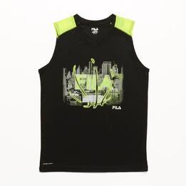 FILA Safety Yellow Camiseta Tirantes Negro Niño (6-16)