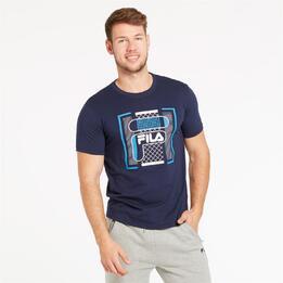 FILA BITMAP Camiseta Marino Hombre