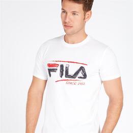 FILA BRUSH Camiseta Blanca Hombre