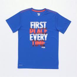 FILA CORAL Camiseta Azul Niño (6-16)