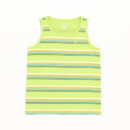 Camiseta Tirante Ancho Up Basic Rayas Verde Niño (2-8)