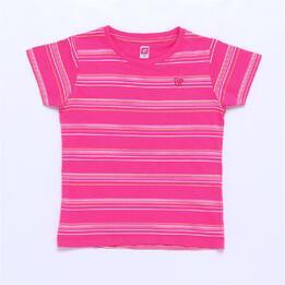 Camiseta UP BASIC Fucsia Rayas Niña (2-8)