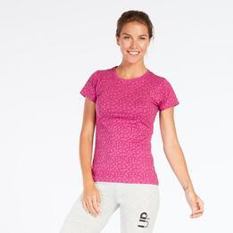 Camiseta Estampada Up Basic Granate Mujer