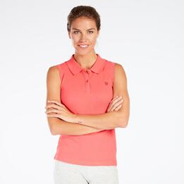 Polo Sin Mangas Coral Mujer Up