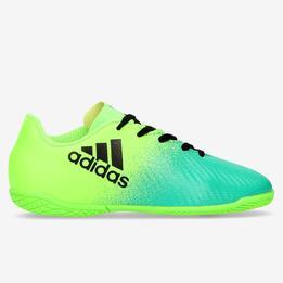 Zapatillas Fútbol Sala Adidas X 16.4 Verde Niño (28-35)