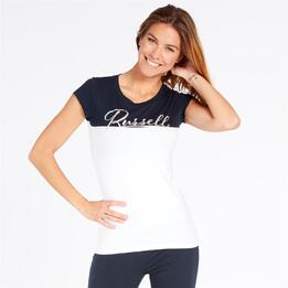 RUSSELL ATHLETIC Camiseta Blanco Marino Mujer