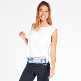RUSSELL ATHLETIC Camiseta Nudo Blanco Mujer