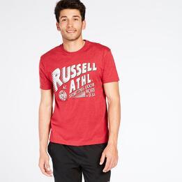 Camiseta Manga Corta RUSSELL ATHLETIC Roja Hombre