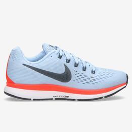 Zapatillas Running Nike Air Zoom Pegasus 34 Celeste Mujer