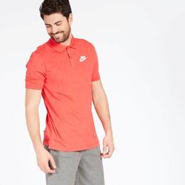 Polo Topos Nike Rojo Hombre
