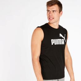 Camiseta Sin Mangas Puma Hombre Negra