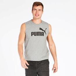 Camiseta Sin Mangas Puma Hombre Gris
