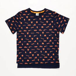 Camiseta Niño Puma Marino Naranja