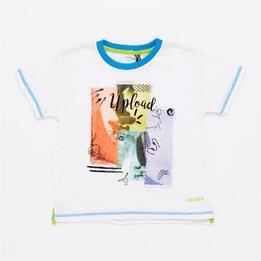 Camiseta Manga Corta Niño Silver Blacktop (2-8)