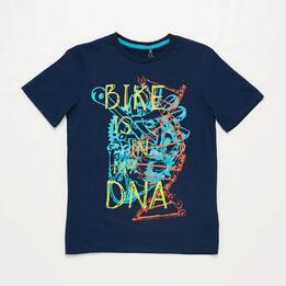 Camiseta Manga Corta Azul Marino NiñoSilver