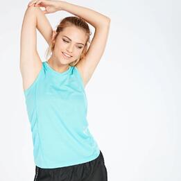 Camiseta Running Tirantes Mujer Ipso Basic Celeste