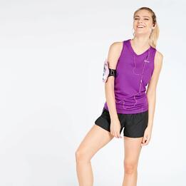 Camiseta Running Tirantes Mujer Ipso Basic Morado