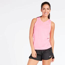 Camiseta Running Tirantes Rosa Mujer Ipso Basic