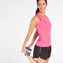 Camiseta Running Tirantes Fucsia Mujer Ipso Basic